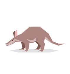 flat geometric aardvark vector image