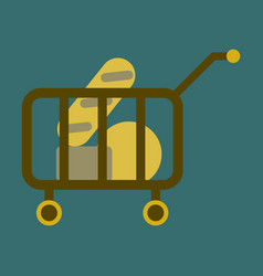 Flat icon shop cart vector