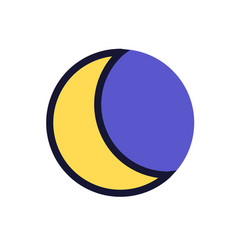 flat moon icon night symbol vector image