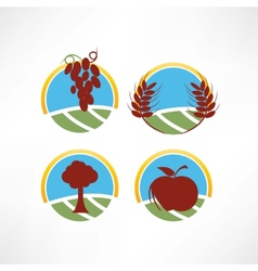 fresh and natural icon vector image
