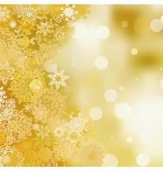 Golden christmas background EPS 8 vector image