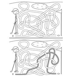 Golf maze vector image