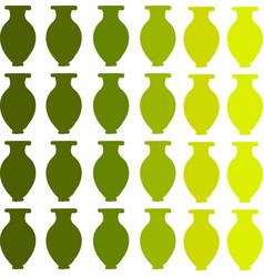 green vase wallpaper on white background vector image