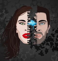 half faces vector image