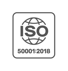iso 50001 sign energy management systems standard vector image