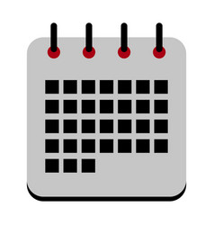 isolated calendar icon vector image