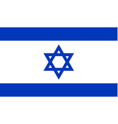 israel flag official colors vector image