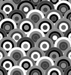 Japanese style seamless with round shapes vector image vector image