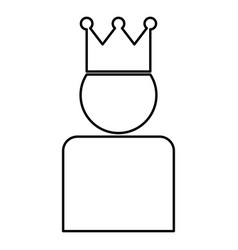 king in crown icon black color flat style simple vector image