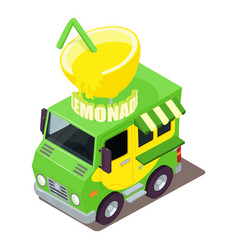 Lemonade machine icon isometric style vector