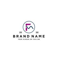 Letter f wave logo design vector
