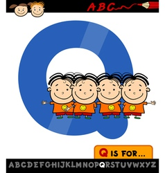 Letter q with quadruplets vector