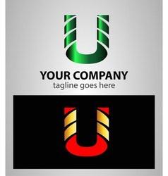 Letter U logo symbol design template elements vector