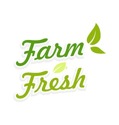 Logotype Farm Fresh vector image