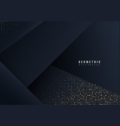 luxurious dark background with glitter and overlap vector image