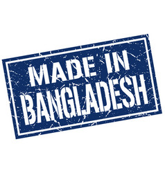 made in bangladesh stamp vector image