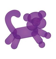 Monkey balloon figure icon vector
