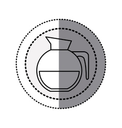 monochrome sticker contour in circular dot line vector image