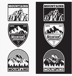 Mountains logo badge 6 vector