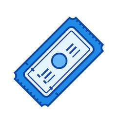 movie ticket line icon vector image