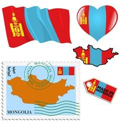 National colours of Mongolia vector