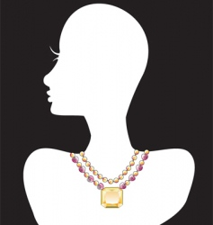 necklace silhouettes vector image
