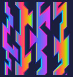 neon geometric seamless pattern vector image