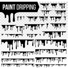 paint dripping liquid set abstract ink vector image