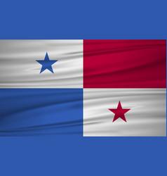 panama flag flag of panama blowig in the wind vector image