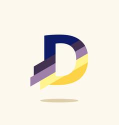 Paper cut letter realistic 3d multi layers vector