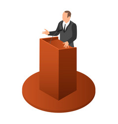 politician speak icon isometric style vector image