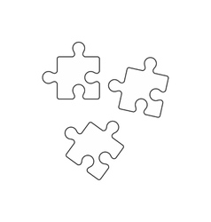 Puzzle icon outline style vector image