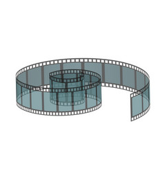 Realistic filmstrip roll vector