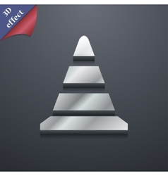 road cone icon symbol 3D style Trendy modern vector image