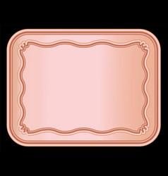 Rose gold photo frame and border background vector