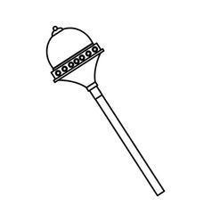 royal scepter drawing superhero accessory vector image