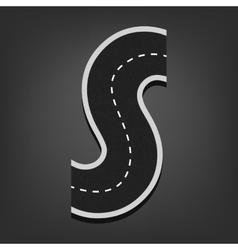 S letter Road font vector image