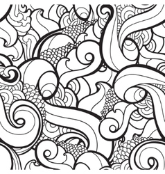 seamless wavy abstract pattern vector image
