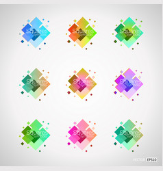 set of color design elements vector image