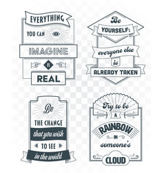set vintage template quotes 01 vector image