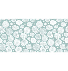 silver grey spring flowers seamless repeat vector image