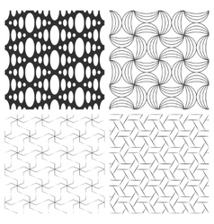 Simple textured backgrounds with geometric vector image