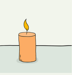 sketch a burning candle vector image