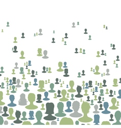 social network concept background vector image