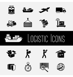 Supply Chain Icons Set vector