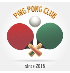 Table tennis retro logo vector image