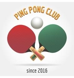 Table tennis retro logo vector