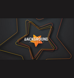 template of a black background with an orange vector image