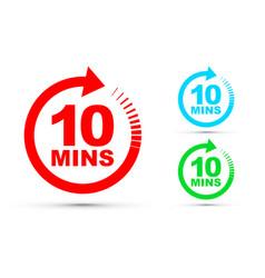 ten minutes icon set vector image