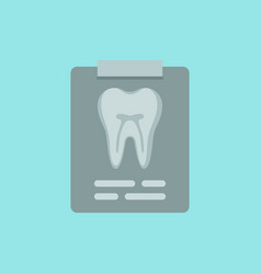 Tooth on x-ray cute colorful icon vector